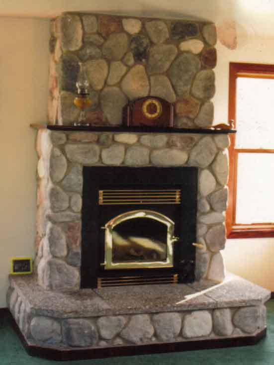 Fireplaces with airtight insert
